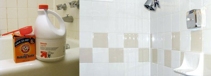Shower Tile Cleaning With Baking Soda and Bleach